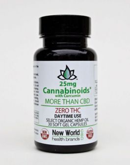 25mg - 30ct. Select Zero THC Soft Gel Capsules - Day Time / CBD with Curcumin