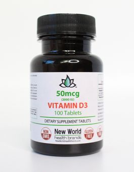 Front of the Vitamin D bottle