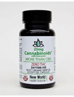 25mg - 60ct. Select Zero THC Soft Gel Capsules - Day Time / CBD with Curcumin