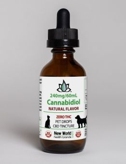 240mg - 60ml Pet Drops Select Organic Hemp Oil Tincture - Natural Flavor CBD