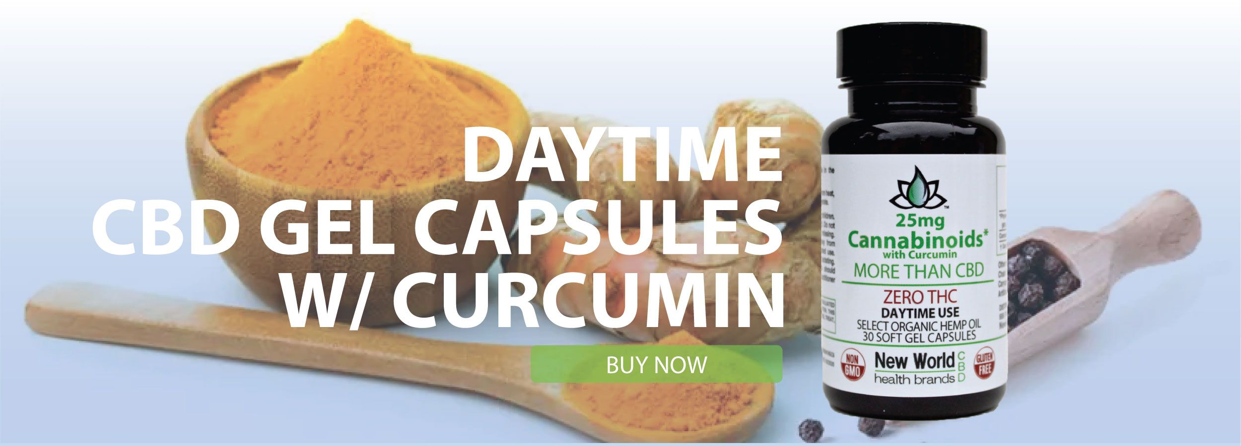 Check out our 25mg Soft Gel Capsules for Daytime with curcumin