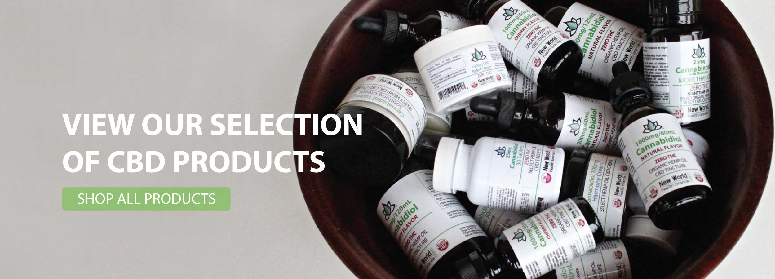 View our selection of CBD products